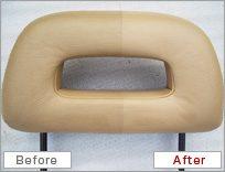革の補修 修理前 修理後 ビフォアアフター before after